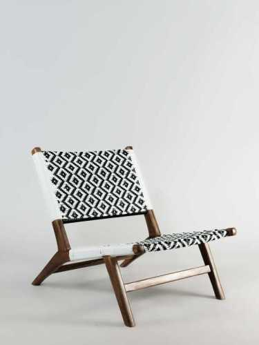 Gonzalo Lounge Chair Black White Natural FurnitureTables And ChairsChairs