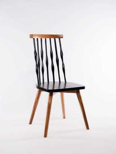 Humberto Dining Chair Natural Black FurnitureTables And ChairsChairs