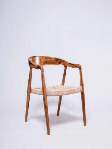 Jacobine Dining Chair Brown Natural FurnitureTables And ChairsChairs