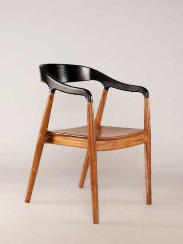 Jacobo Dining Chair With Armrest Brown Black FurnitureTables And ChairsChairs