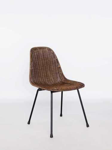 Juliano Dining Chair Brown Wash Honey Brown Wash Black FurnitureTables And ChairsChairs