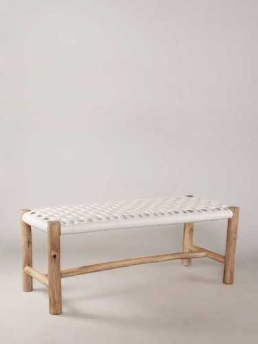 Marbella Bench Natural White FurnitureTables And ChairsIndoor Benches