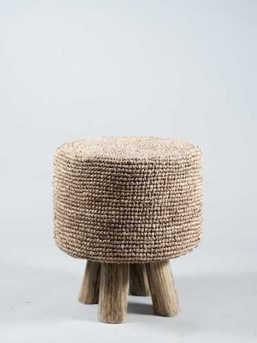 Pedro Raffia Stool Natural Brown FurnitureTables And ChairsStools