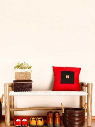 Kursi Bench Panjang Sancho White Antique Grey FurnitureTables And ChairsChairs