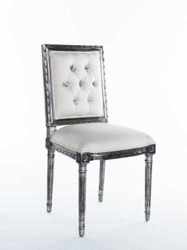Turbigo Dining Chair Off White And Black Silver FurnitureTables And ChairsChairs