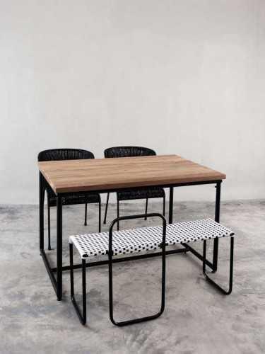 Turgo Bench White White Black FurnitureTables And ChairsIndoor Benches