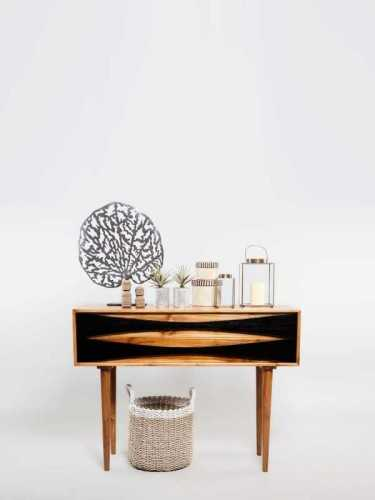 Giardinetti One Drawer Console Natural Dark Choco FurnitureStorage Systems And UnitsChests Of Drawers