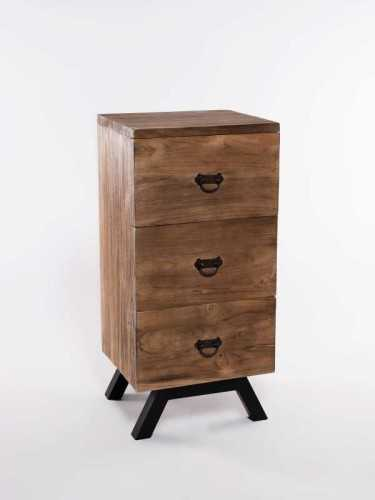 Kannawa Three-Drawer Chest Antique Brown FurnitureStorage Systems And UnitsChests Of Drawers