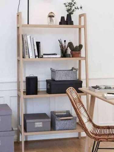 Pietro Teak Bookcase Natural Brown FurnitureStorage Systems And UnitsBookcases