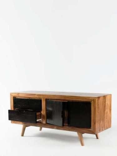 Termini Drawer / Credenza Brown Black FurnitureStorage Systems And UnitsChests Of Drawers