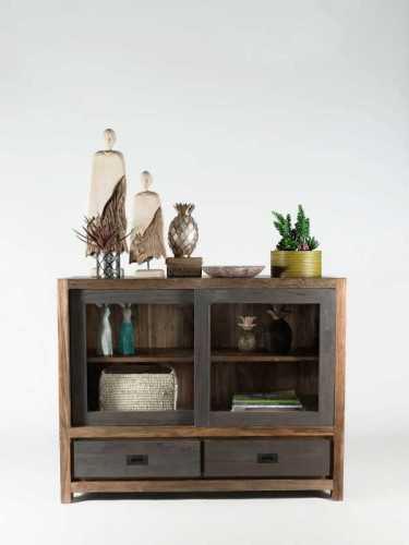Veneto Short Bookcase Washed Grey FurnitureStorage Systems And UnitsBookcases