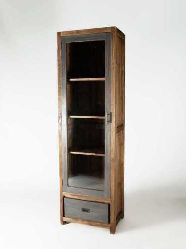 Veneto Tall Bookcase Washed Grey FurnitureStorage Systems And UnitsBookcases