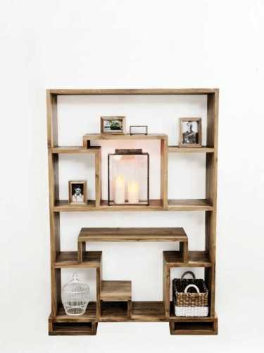 Lombardia Bookcase (Medium) Teak Brown FurnitureStorage Systems And UnitsBookcases