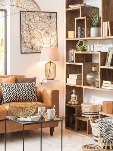 Lombardia Bookcase Teak Brown FurnitureStorage Systems And UnitsBookcases