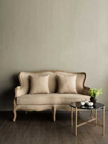 Saveur Carved Wood Sofa Natural Beige FurnitureSofa And ArmchairsSofas