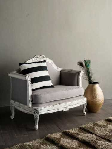 Guerin French Salon Settee Sofa Antique White FurnitureSofa And ArmchairsSofas