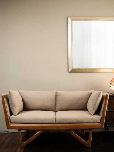Zucca Two Seater Sofa Light Brown Natural FurnitureSofa And ArmchairsSofas