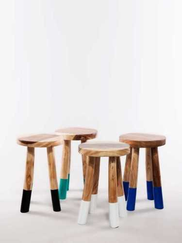Foto produk  Baixa Stool (Available In 4 Colors) Natural Black di Arsitag