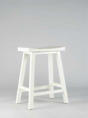 Jorge Fine Saddle Stool White (M) White Rustic FurnitureTables And ChairsStools