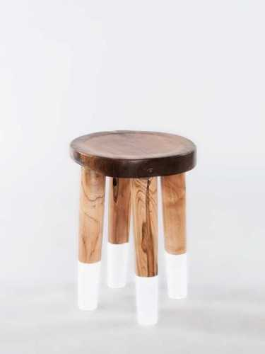 Josue Accent Stool - Natural White FurnitureTables And ChairsStools