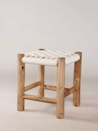 Marbella Stool Natural White FurnitureTables And ChairsStools
