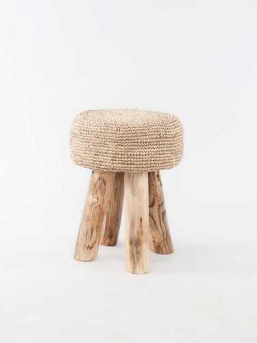 Pedro Raffia Stool Tall Natural Brown FurnitureTables And ChairsStools