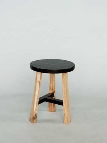 Alba Black Tee Stool Natural X Black FurnitureTables And ChairsStools