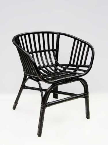 Foto produk  Albano Stackable Dining Chair Black Black di Arsitag