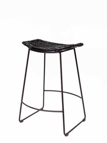 Foto produk  Arturo Bar Stool Black Distressed Black Distressed Dark Brown Leg di Arsitag