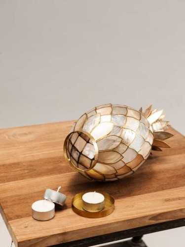 Ananas Candleholder Gold Gold White DécorHome DecorationsCandle Holders