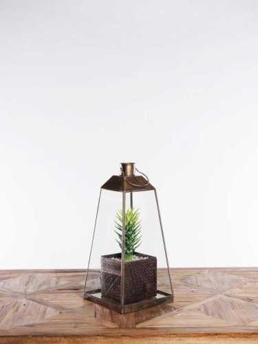 Foto produk  Lillestrom Terrarium Lantern Antique Gold di Arsitag