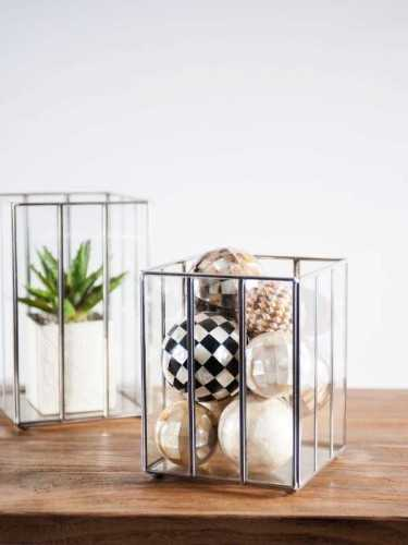 Tromso Terrarium / Candle Holder Small Silver DécorHome DecorationsCandle Holders