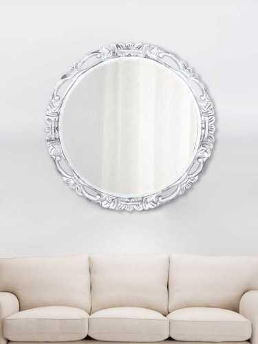 Foto produk  Chakri Mirror Silver (L) Silver Wood di Arsitag