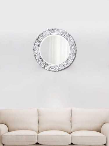 Chakri Mirror Silver (S) Silver Wood DécorHome DecorationsMirrors