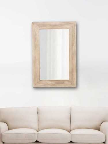 Noemi Wooden Mirror Natural Natural Brown DécorHome DecorationsMirrors