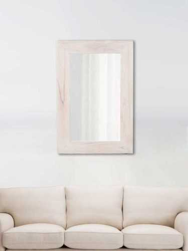 Noemi Wooden Mirror White Soft White DécorHome DecorationsMirrors