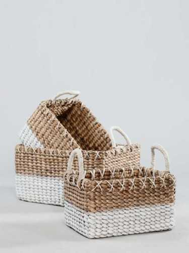 Foto produk  Biscay Basket Duotone Handle Large Natural White di Arsitag
