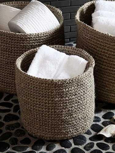 Borjas Jute Basket Small Natural Jute KitchenDining Table AccessoriesBaskets