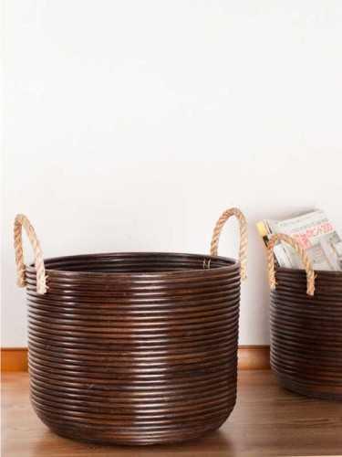 Basket Granada Dengan Handle Size Large KitchenDining Table AccessoriesBaskets