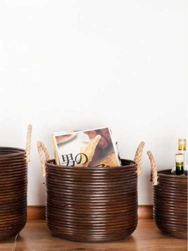 Basket Granada Dengan Handle Size Medium KitchenDining Table AccessoriesBaskets