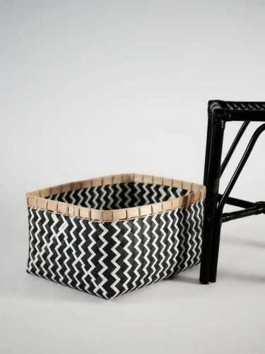 Foto produk  Lugano Square Basket Large Black White di Arsitag