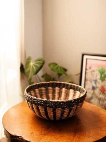 Pedrera Round Basket Large Natural Grey KitchenDining Table AccessoriesBaskets