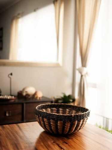 Pedrera Round Basket Medium Natural Grey KitchenDining Table AccessoriesBaskets