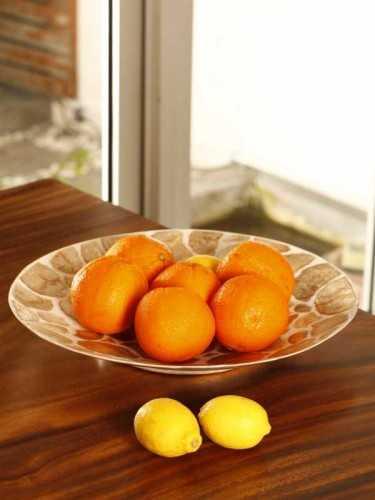 Piring Capiz Esperer Golden Brown X White Natural KitchenDining Table AccessoriesPlates