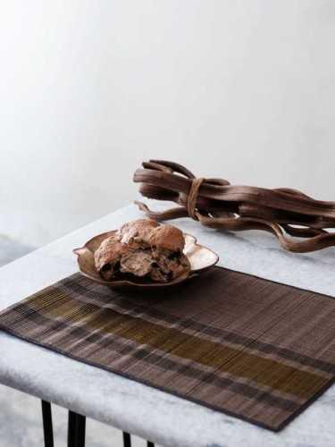 Kaga Placemat (Set Of Two) Brown Black KitchenKitchen TextilesPlacemats