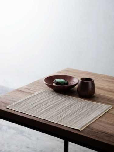 Katsura Placemat (Set Of Two) Natural Yellow KitchenKitchen TextilesPlacemats