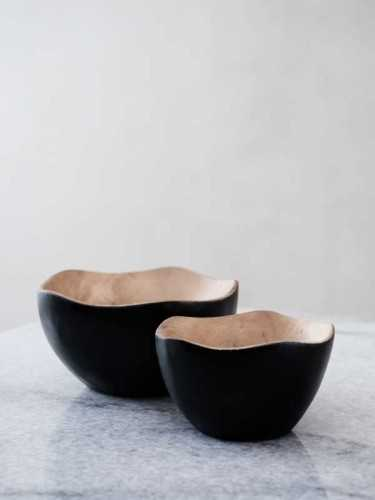 Naha Wooden Suar Bowl Small Natural Black KitchenDining Table AccessoriesBowls
