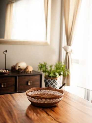 Nietos Bread Basket Large Honey White KitchenDining Table AccessoriesBaskets