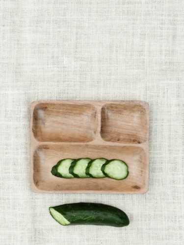 Foto produk  Sakuho Square Wooden Plate With Partition Natural di Arsitag