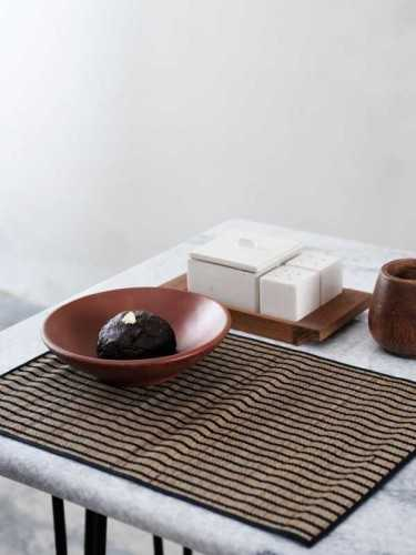 Foto produk  Towada Placemat (Set Of Two) Natural Black di Arsitag